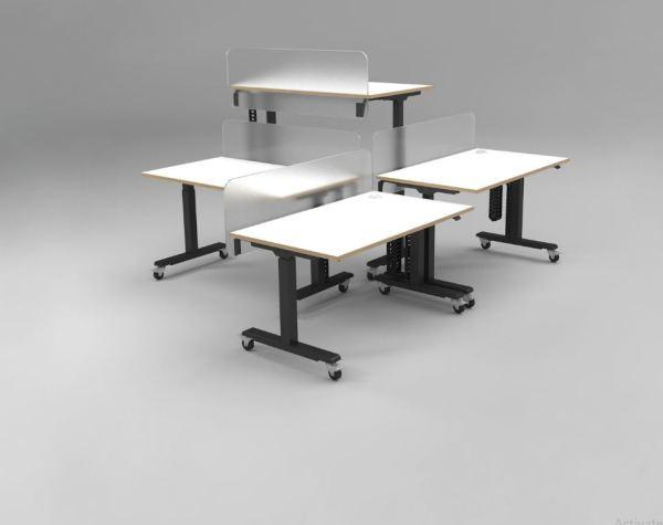 Mobile Best Height Adjustable Desk