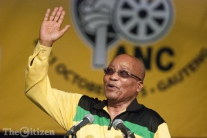 MIDRAND, SOUTH AFRICA – OCTOBER 9: President Jacob Zuma at the ANC National General Council on October 9, 2015 at Gallagher Convention Centre in Midrand, South Africa. A number of resolutions were adopted at the ruling party's 4th National General Council, including the introduction of lifestyle audits for public servants. (Photo by Gallo Images / Thapelo Maphakela)