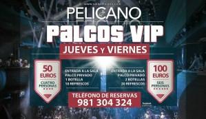 Palcos VIP jueves y viernes