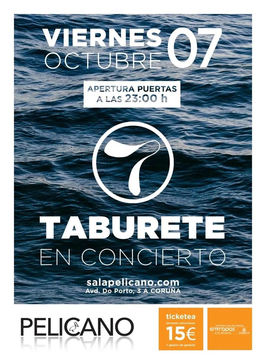 Taburete sala pel cano for Entradas concierto taburete