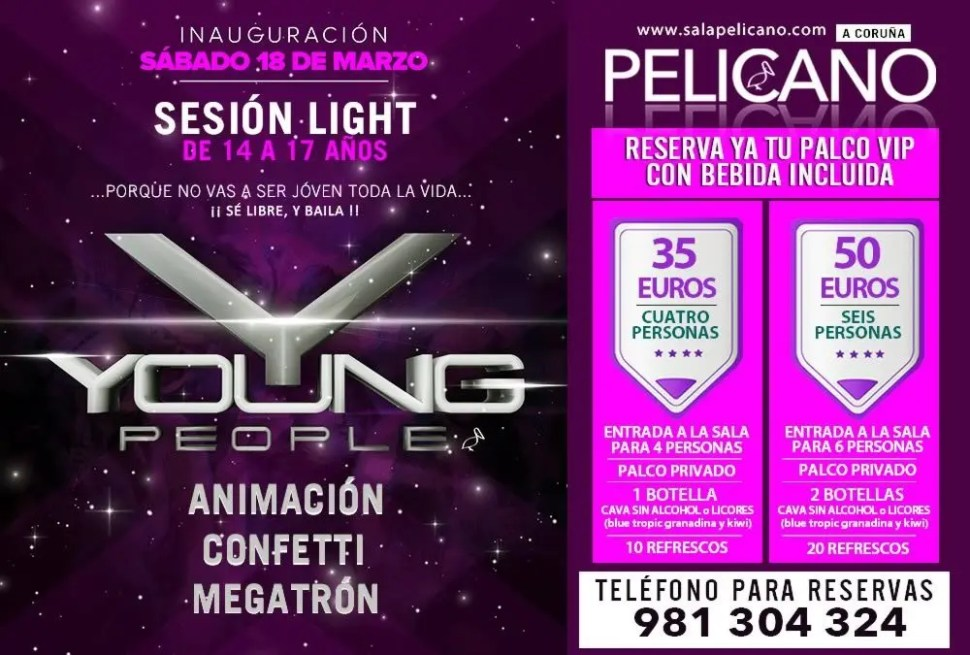 Palcos VIP Young