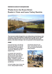 Kirkby Lonsdale Walking Route