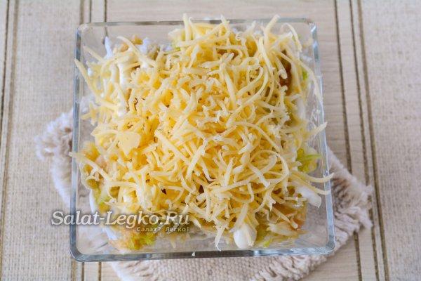 """Салат """"Африка"""" с киви и курицей и сыром и корейской ..."""