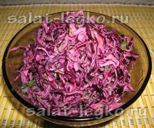 Салат из красной капусты рецепты с фото