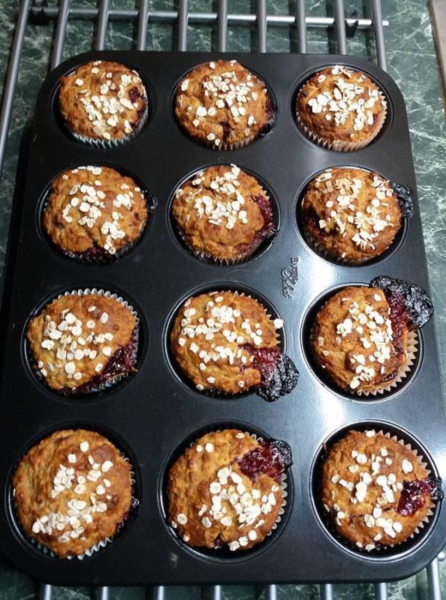 Almás zabpelyhes muffin recept