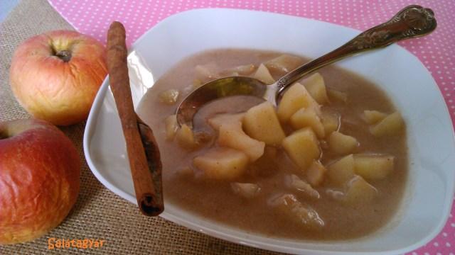 Diétás almaleves tej nélkül, gluténmentesen (zöldbanánliszttel)