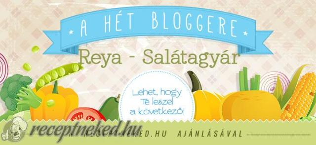 Szaszkó Reya a hét bloggere a receptneked.hu-n