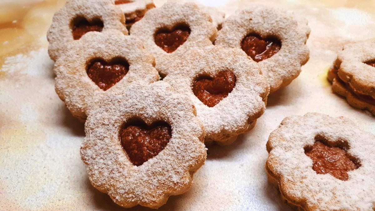 Szénhidrátszegény diétás linzer cukormentes lekvárral
