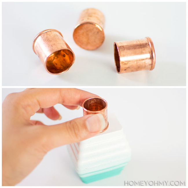 Copper-plugs
