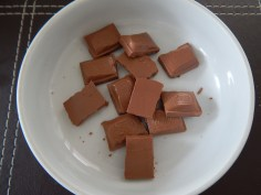 derreta o chocolate