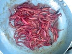 Caramelize a cebola roxa