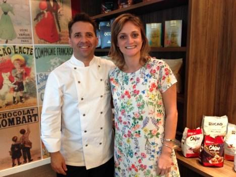Camila Masullo e chef chocolatier Bertrand Busquet