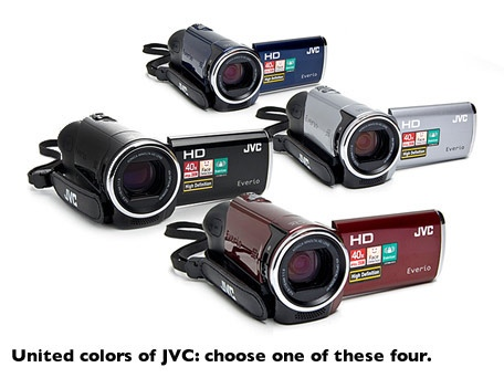 JVC Everio HD Camcorder with 40x Optical Zoom