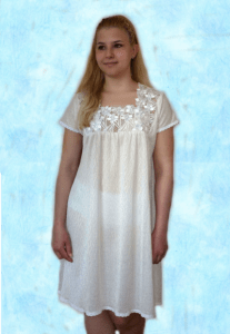 ночная сорочка с широким кружевом