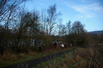 Hedge maintenance by Tittesworth Water