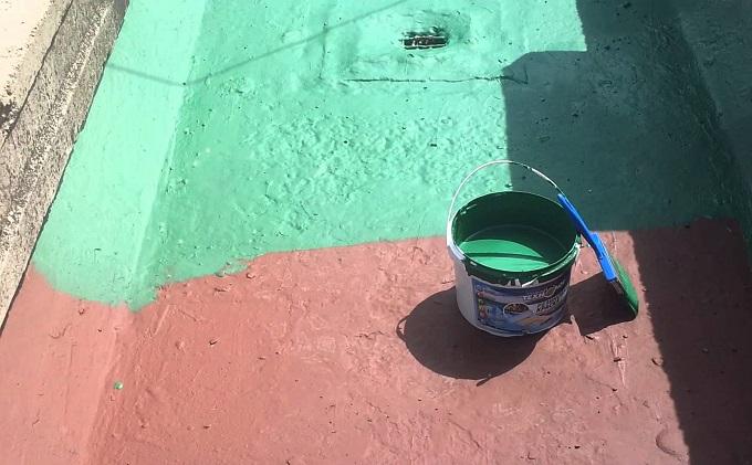 Декоративно-защитное покрытие каучуковой краской