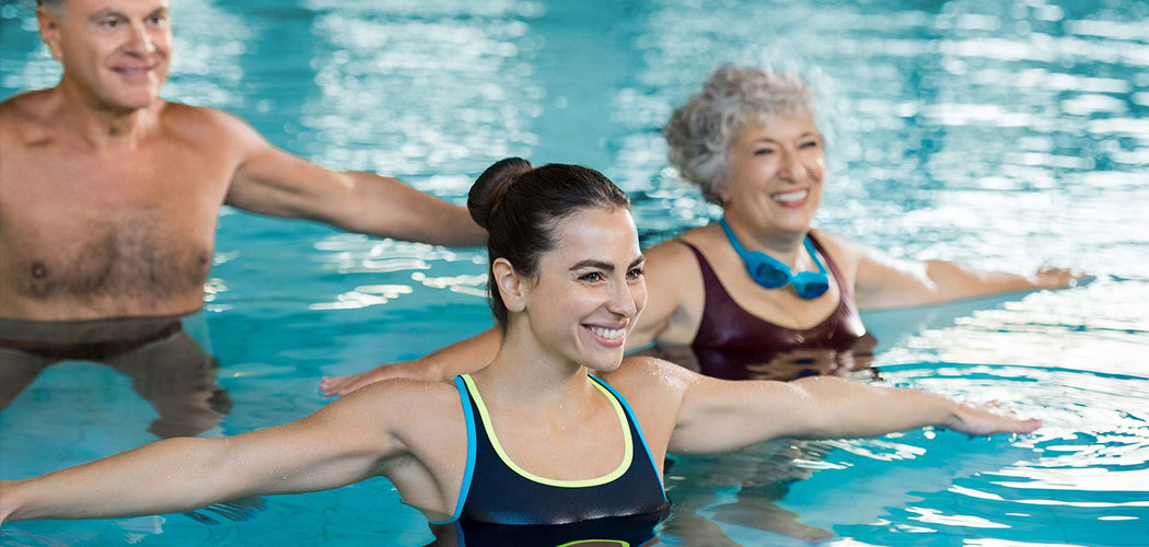 Swimming pool aquarobics aquamotion classes