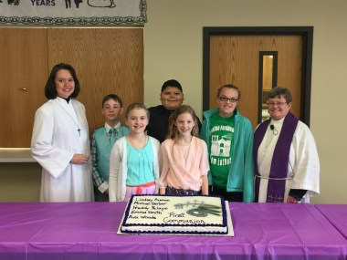 first communion class 2016