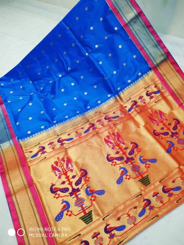 art silk paithani