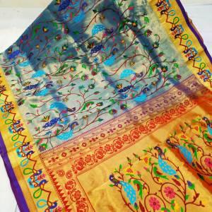 Full Shahi Brocade Paithani Saree