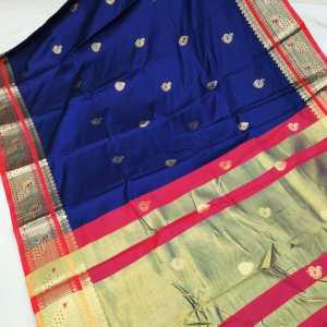 Peacock Brocade Soft Sico Cotton Silk Saree