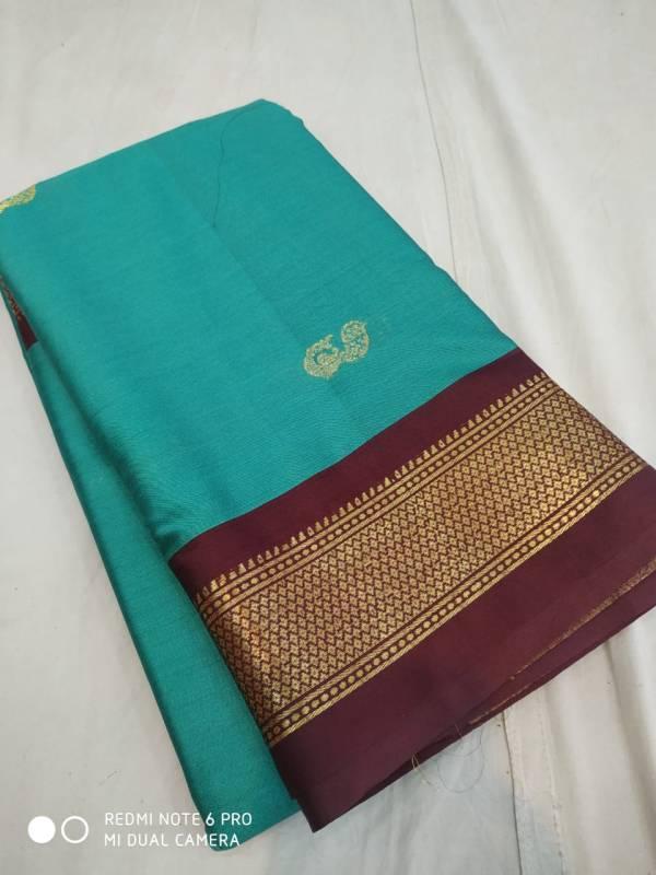 soft cotton silk paithani