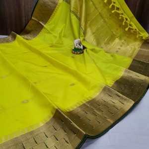 Triple Muniya Designer Sico Paithani Saree