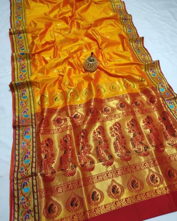 Full Work Rich Pallu Brocade Paithani Saree - Gold