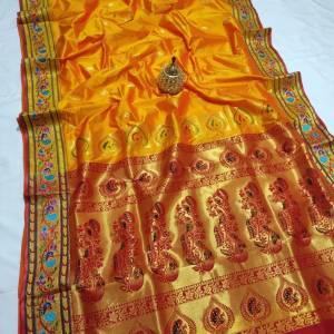 Rich Pallu Brocade Paithani Saree – Gold