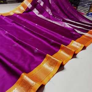 Sico Silk Silver Zari Paithani Saree