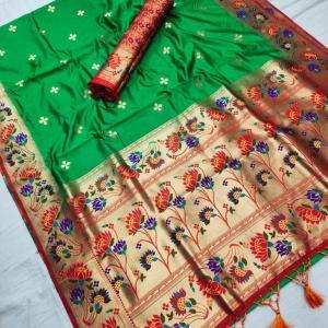 Soft Silk Designer Lotus Paithani Saree