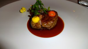 Beef with Red Wine Sauce.