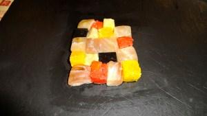 Mosaic of Amberjack, Grapefruit, and Foie Gras.