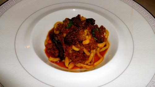 Pici Pasta with Morel Mushrooms.