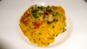 Pasta with Crabmeat.