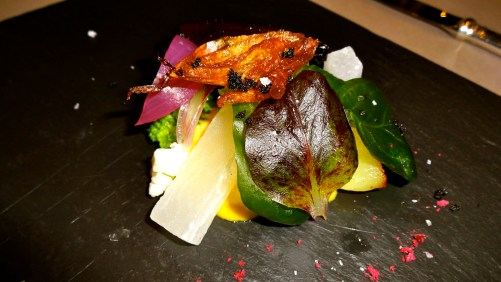 Garden Vegetables with Brusca Sauce.