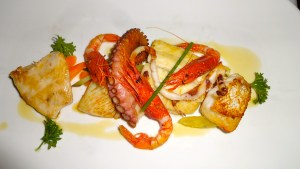 Mixed Grilled Seafood.