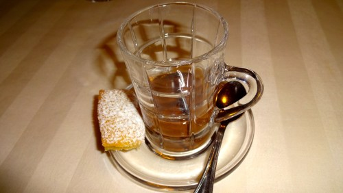 Hot Chocolate with Cardamon Biscuit.