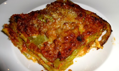 Lasagna Verde alla Bolognese.