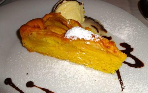 Apple Cake with Vanilla Ice Cream.