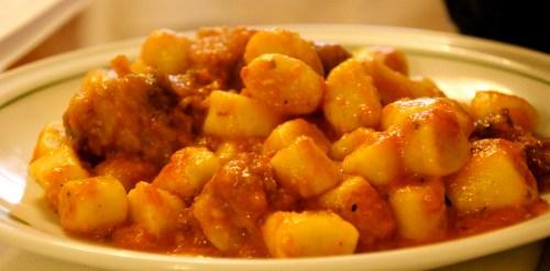 Gnocchi in Meat Sauce.