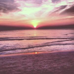 Gorgeous Thailand Sunset at White Sand Beach.