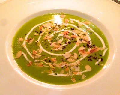Pea Soup with Almonds.