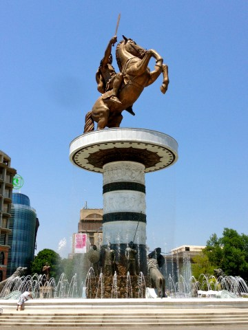 Alexander the Great Statue.