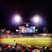 Enjoying the Giants Game.