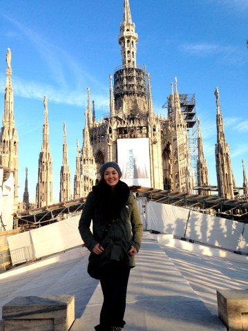 On Top of the Duomo.