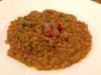Farro with Raw Red Prawns and Lime.