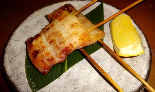 Pork Belly Skewer with Sansho Salt (6/10).