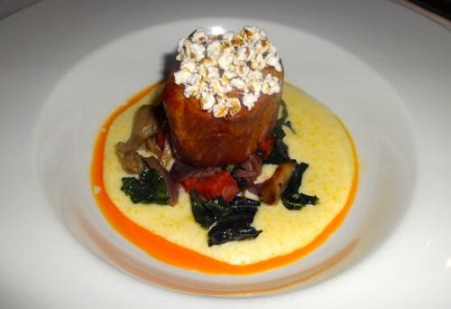 Pork Collar with Polenta, Maitake Mushrooms, and Kale (7.5/10).