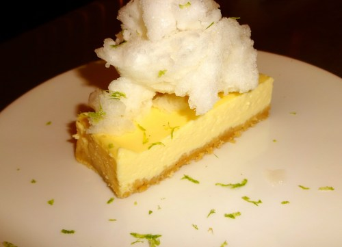 Crème Fraîche Cheesecake with Lychee Snow (8/10).